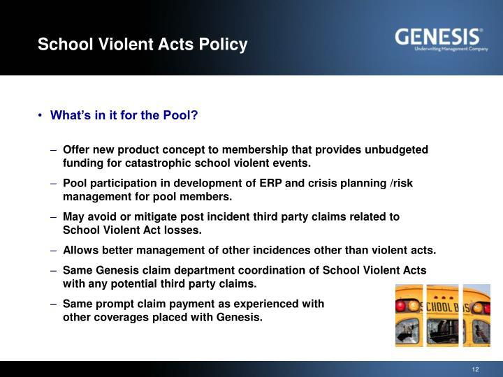 School Violent Acts Policy