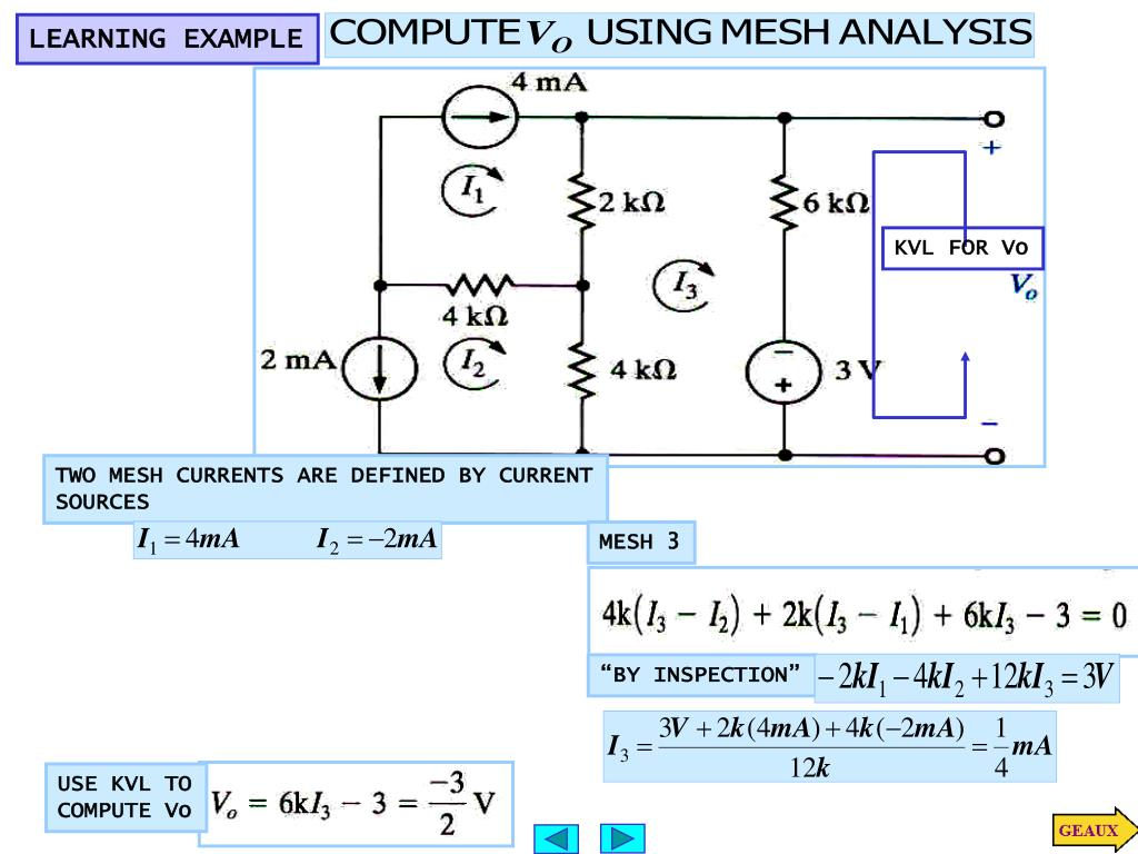 Use Mesh Analysis For The Following Circuitlet I 1 And I 2 Be