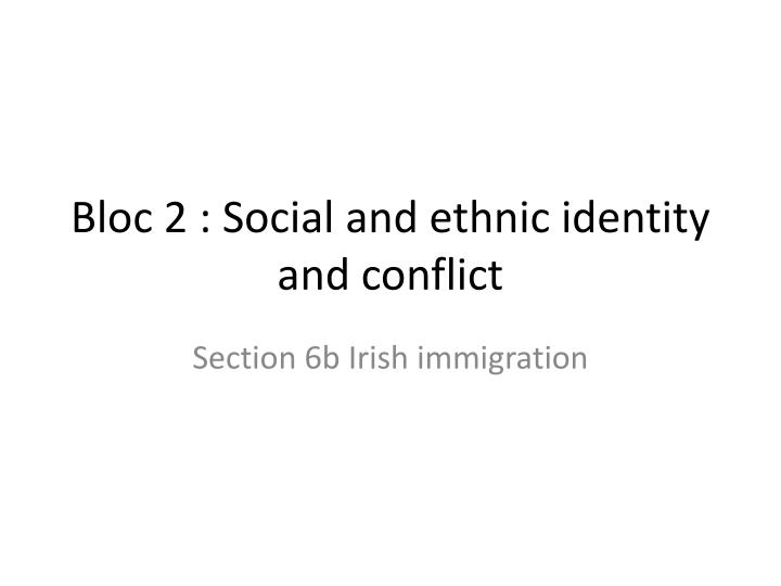 bloc 2 social and ethnic identity and conflict n.