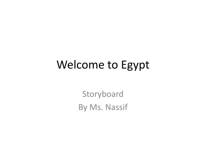 welcome to egypt n.