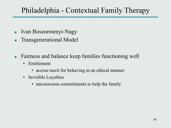contextual family therapy model