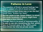 failures in love