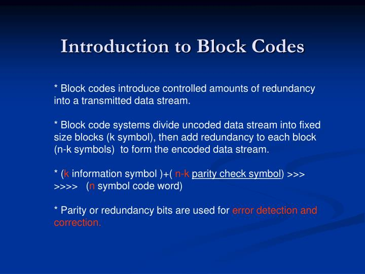 Ppt Linear Block Codes Powerpoint Presentation Id5456442