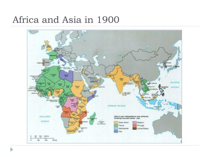 Africa and asia in 1900