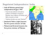 negotiated independence india