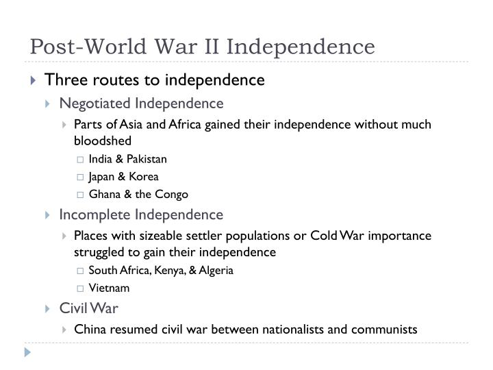 Post-World War II Independence