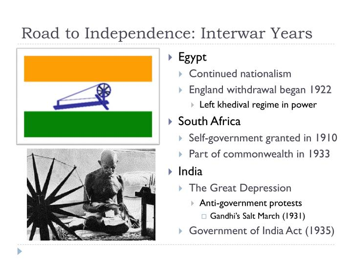 Road to Independence: Interwar Years