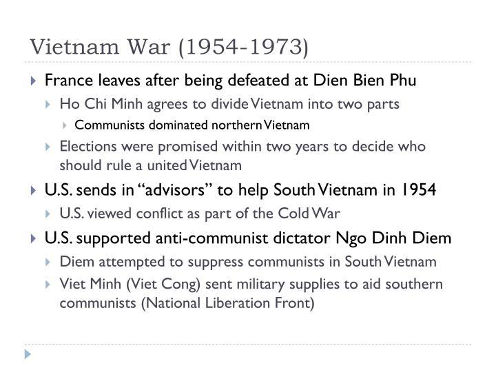 Vietnam War (1954-1973)
