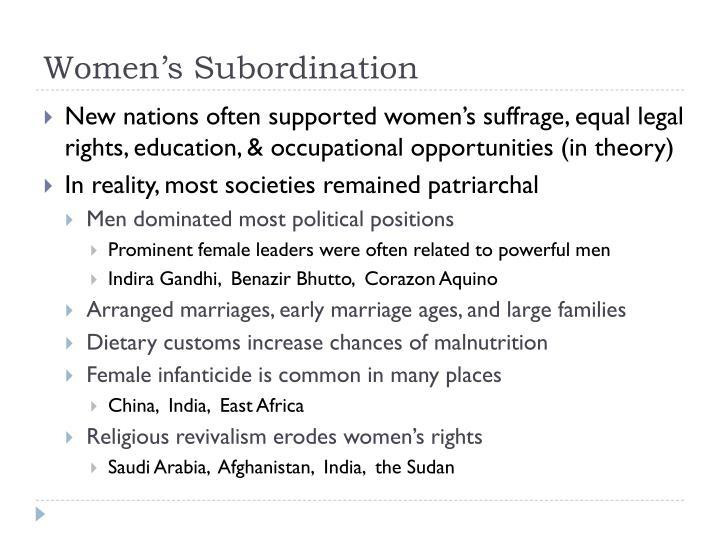 Women's Subordination