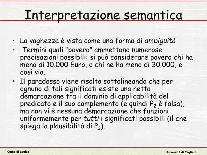 Interpretazione semantica