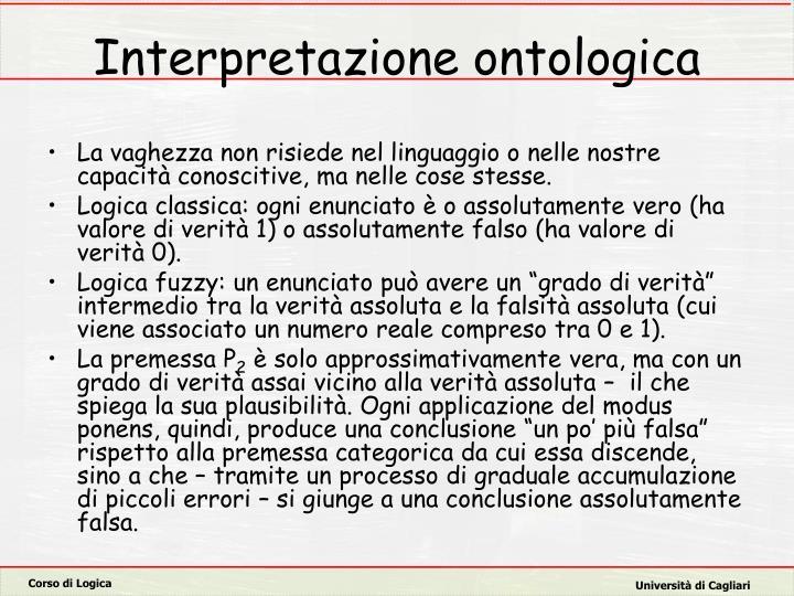 Interpretazione ontologica