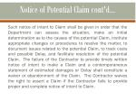 notice of potential claim cont d