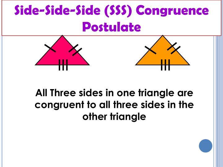 Side-Side-Side (SSS) Congruence Postulate