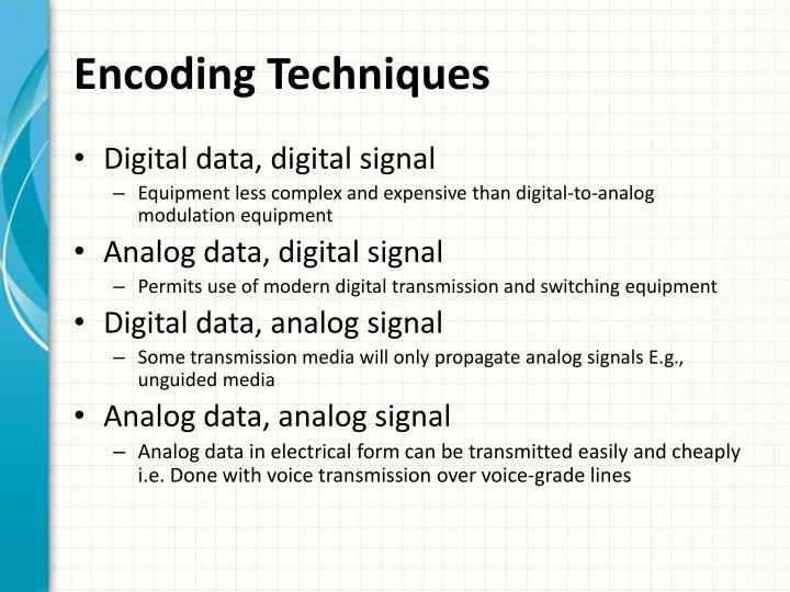 Encoding techniques