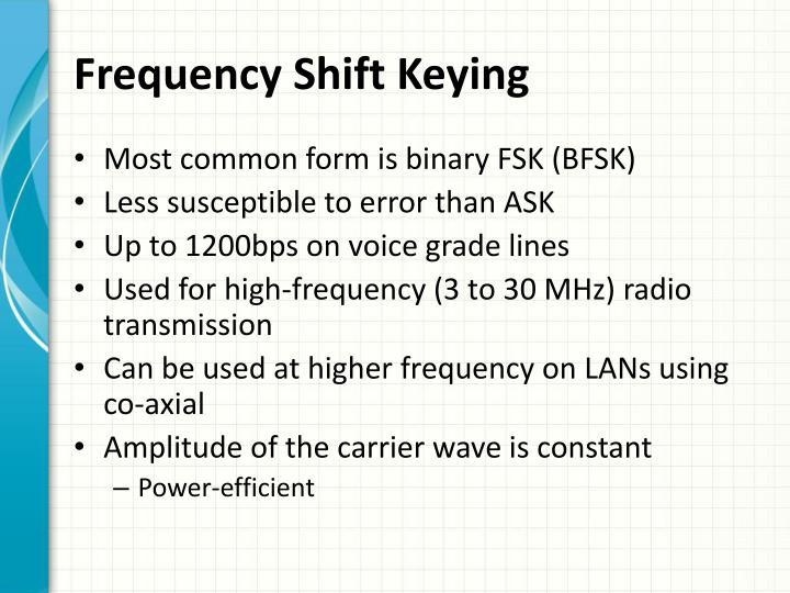 Frequency Shift Keying