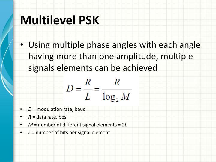 Multilevel PSK