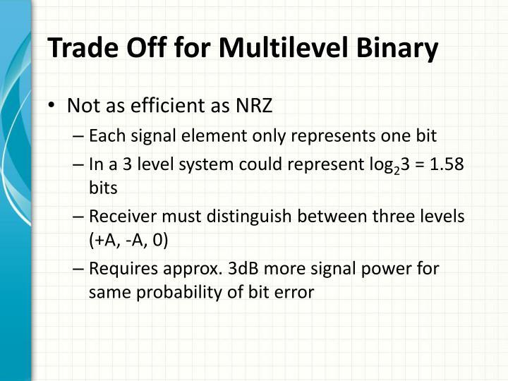 Trade Off for Multilevel Binary