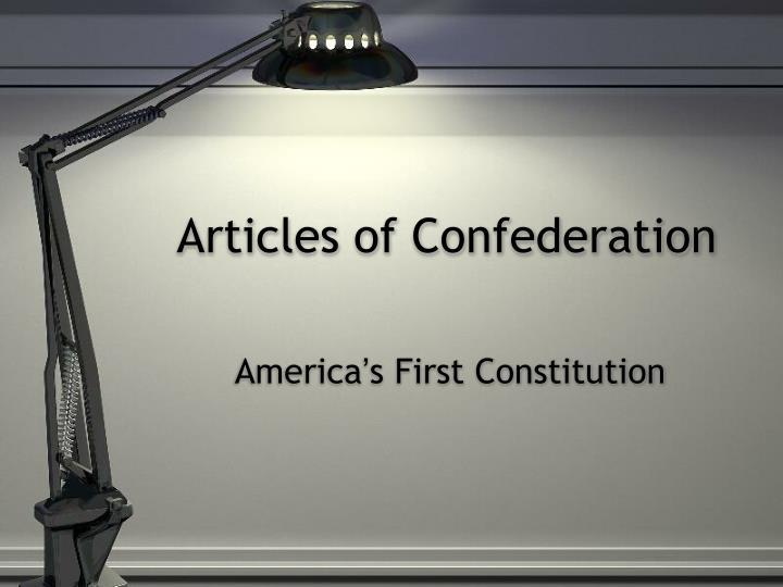 articles of confederation n.