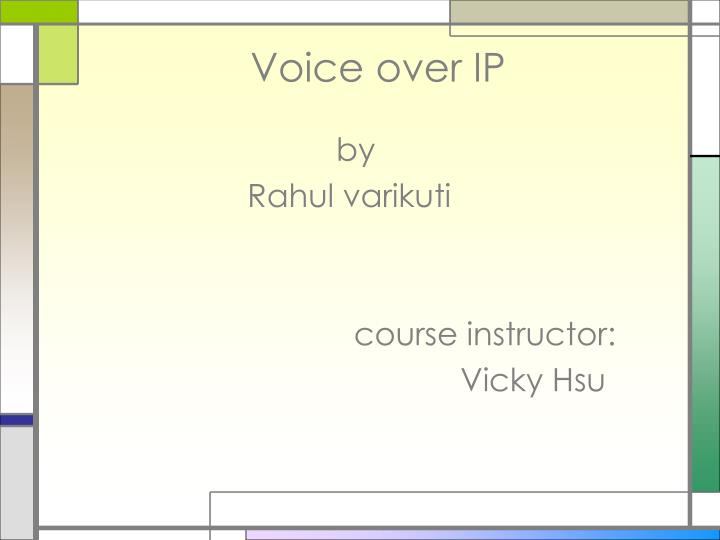 voice over ip n.