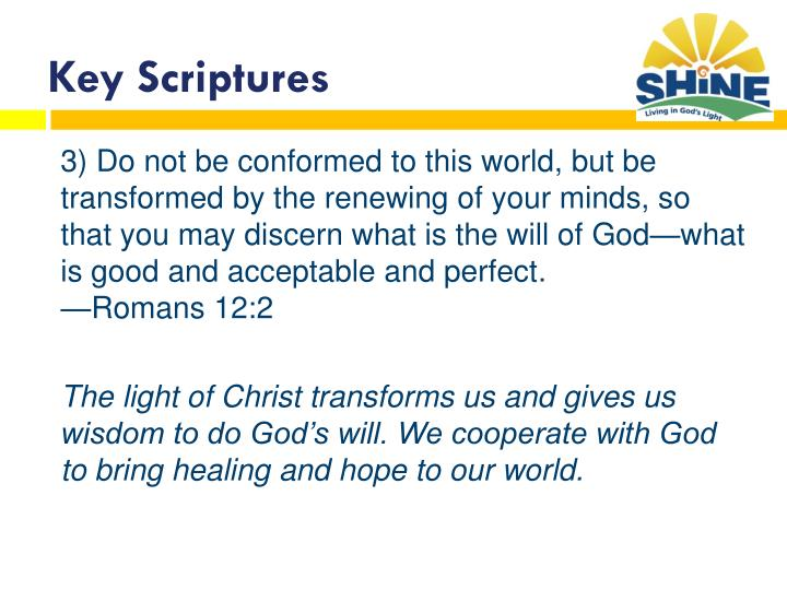 Key Scriptures