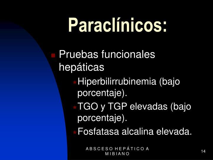 Paraclínicos: