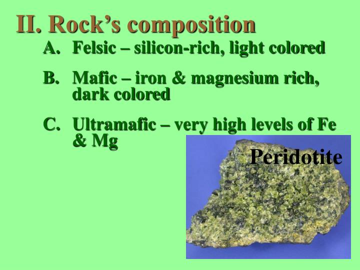 Rock's composition