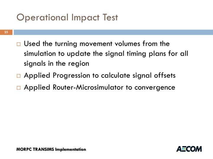 Operational Impact Test