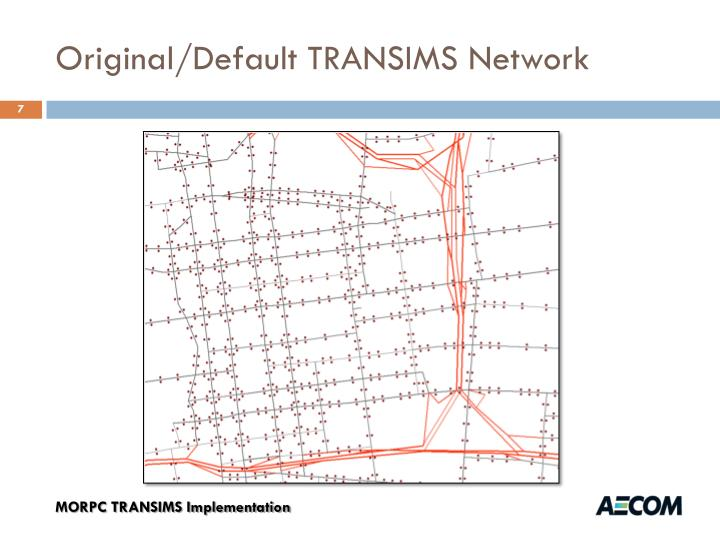 Original/Default TRANSIMS Network