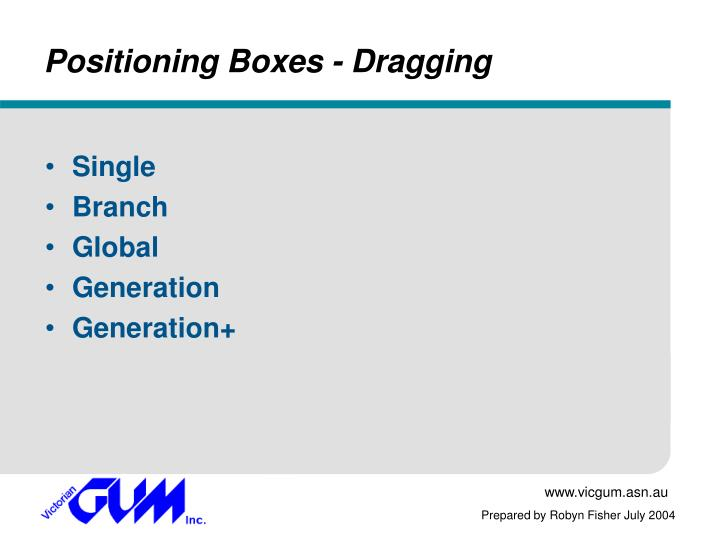 Positioning Boxes - Dragging