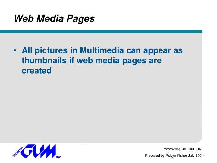 Web Media Pages