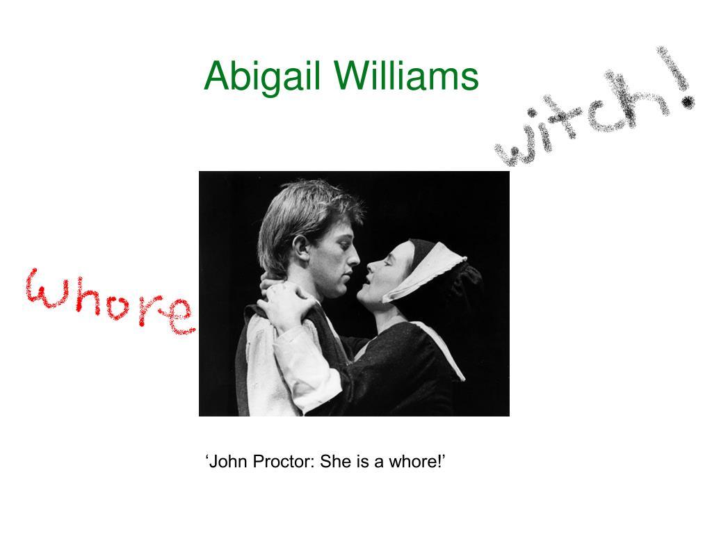 john proctor abigail williams