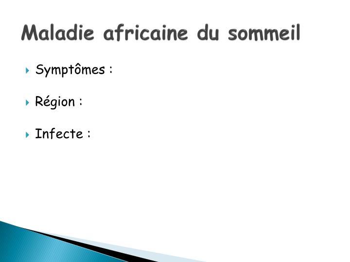 Maladie africaine du sommeil