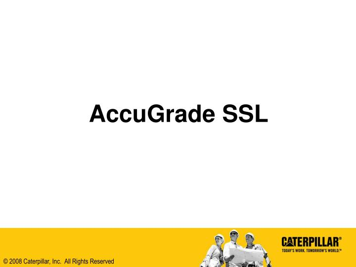 Accugrade ssl