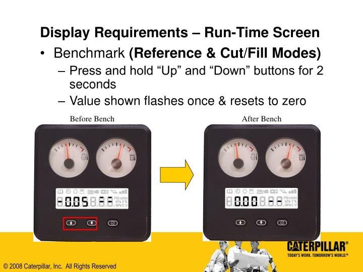 Display Requirements – Run-Time Screen
