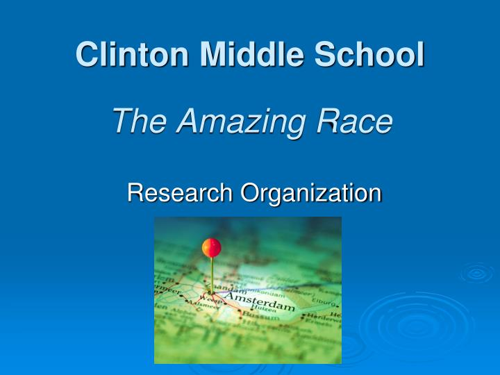clinton middle school the amazing race n.