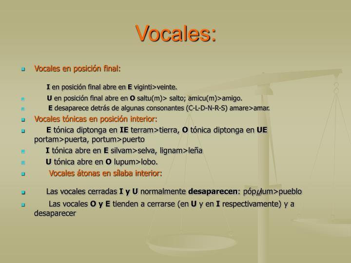 Vocales: