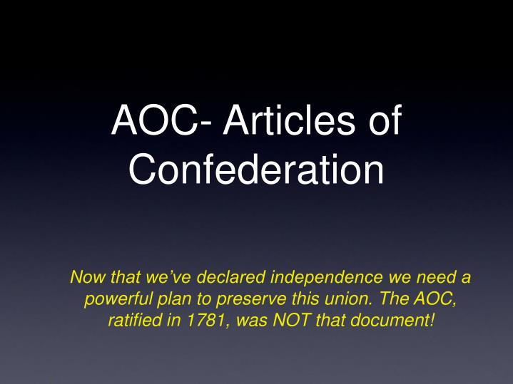 effectiveness of the articles of confederation essay