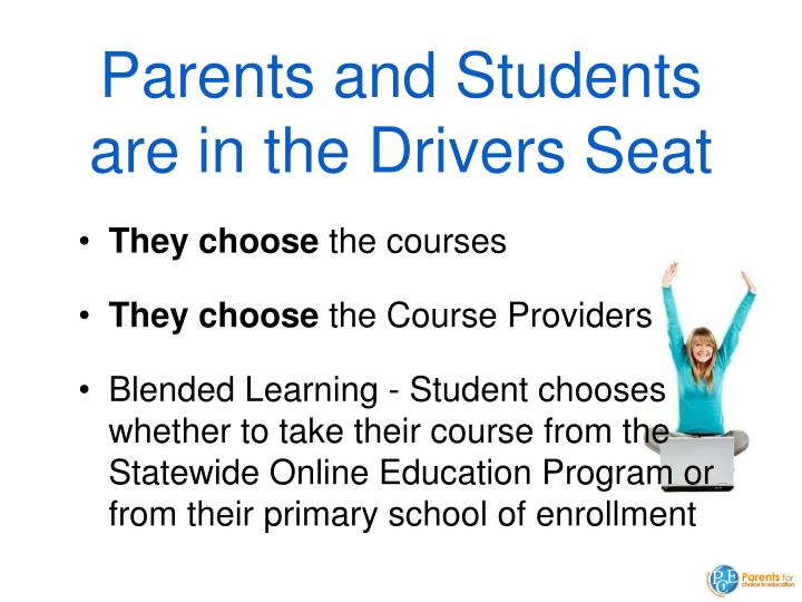Parents and Students are in the Drivers Seat