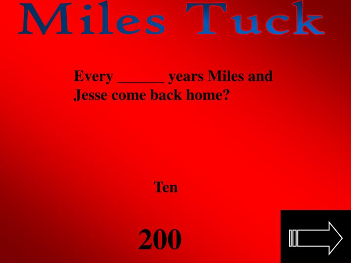 Miles Tuck