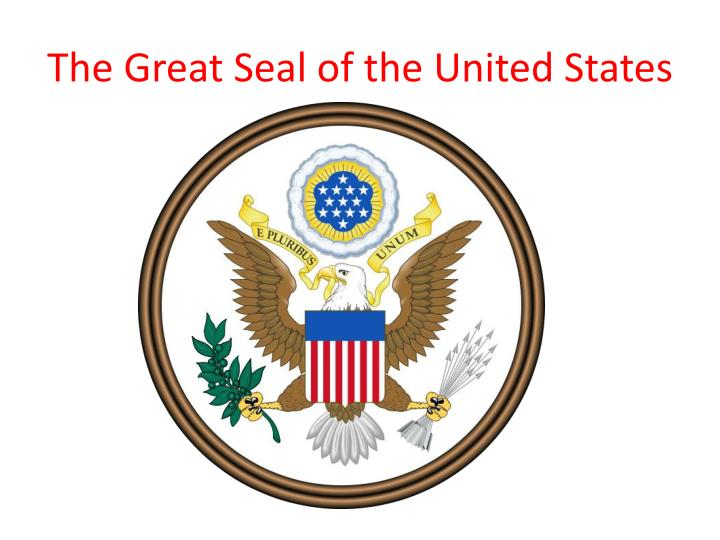the great seal of the united states n.