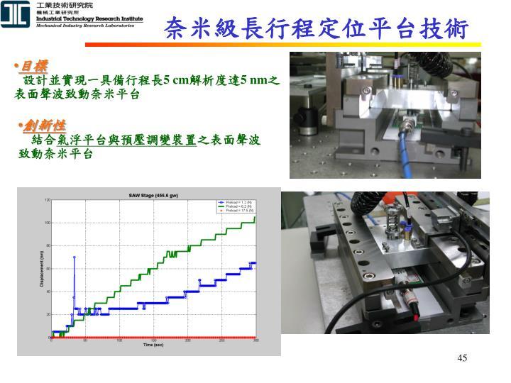 奈米級長行程定位平台技術
