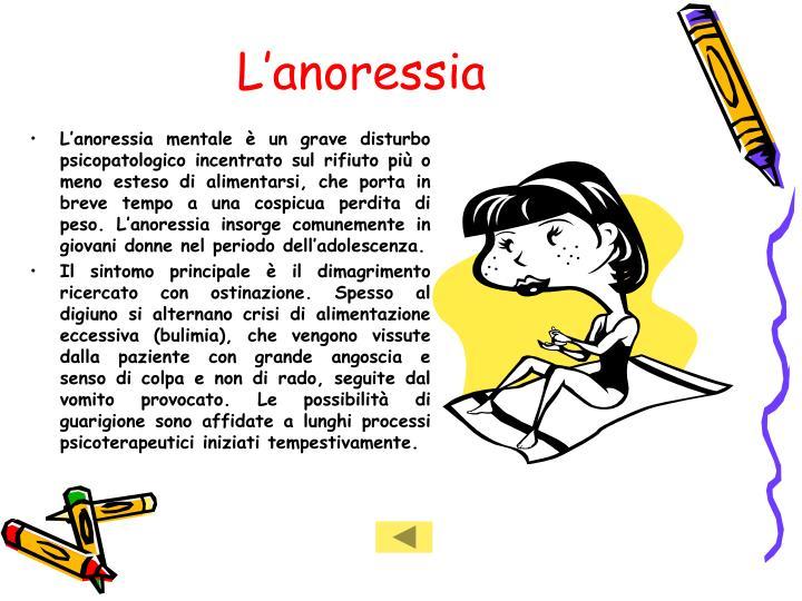 L'anoressia