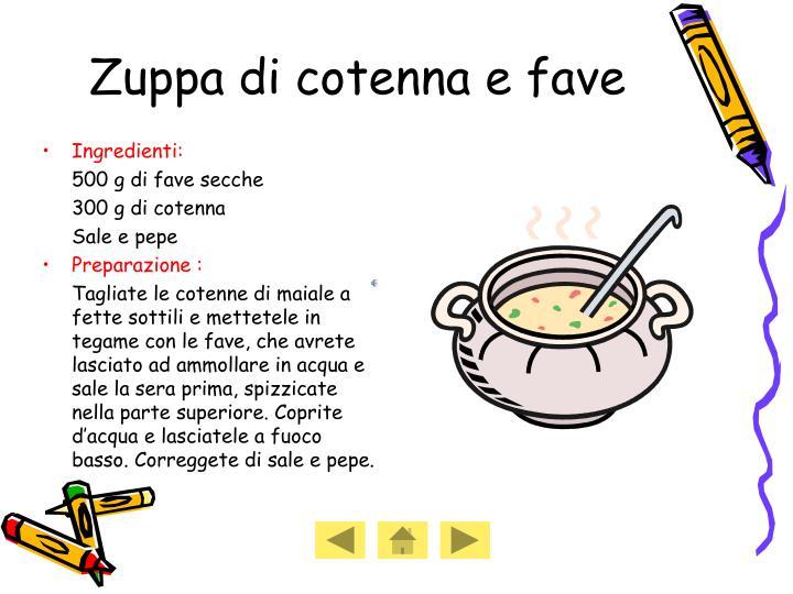 Zuppa di cotenna e fave