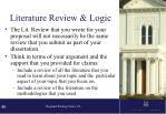 literature review logic