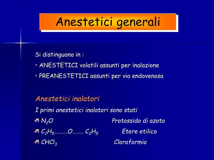 Anestetici generali