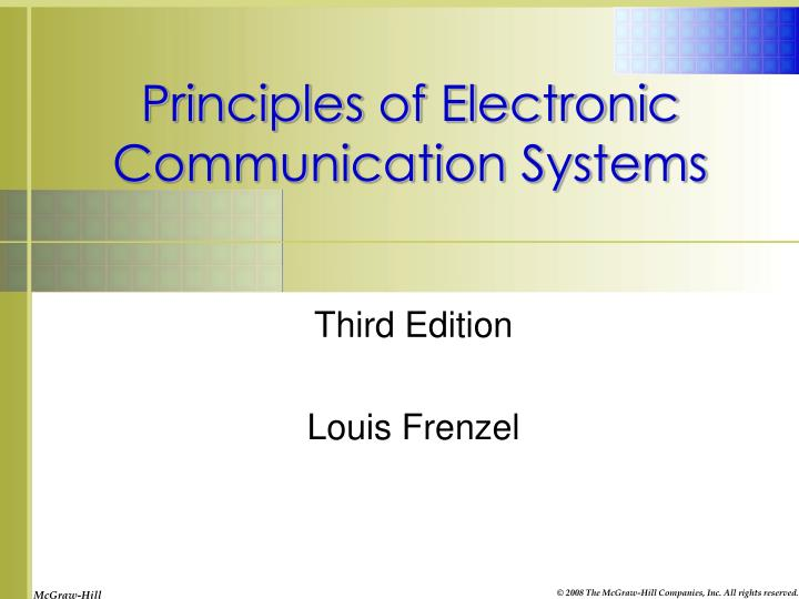 principles of electronic communication systems n.
