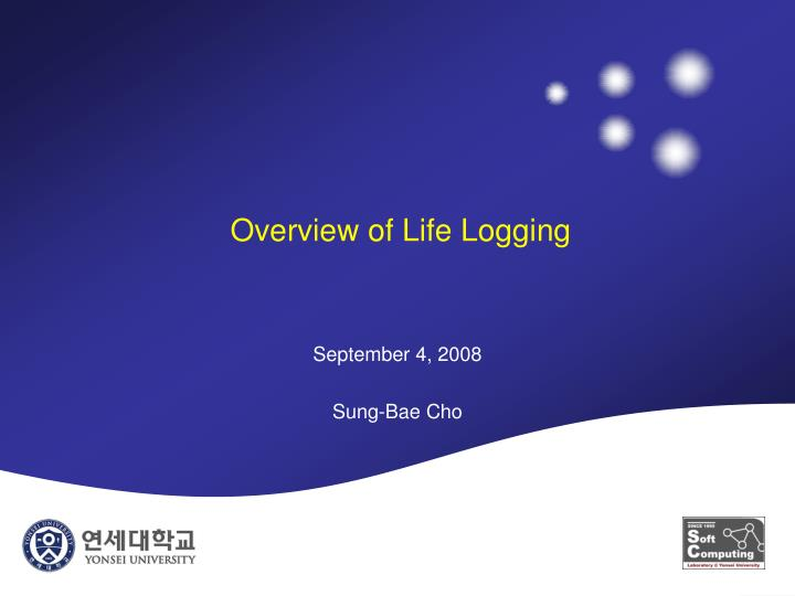 overview of life logging n.
