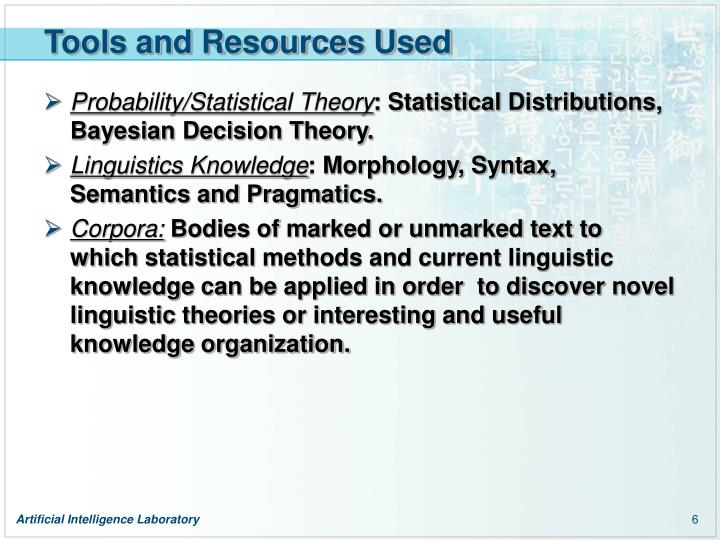 Tools and Resources Used