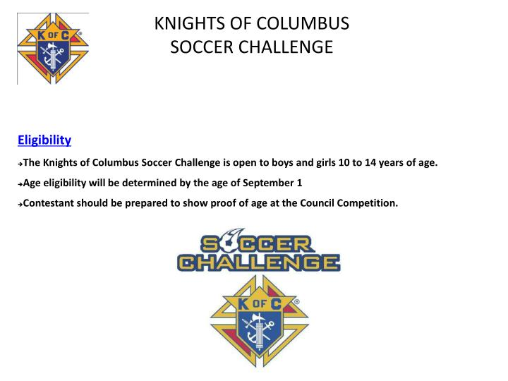 knights of columbus soccer challenge n.