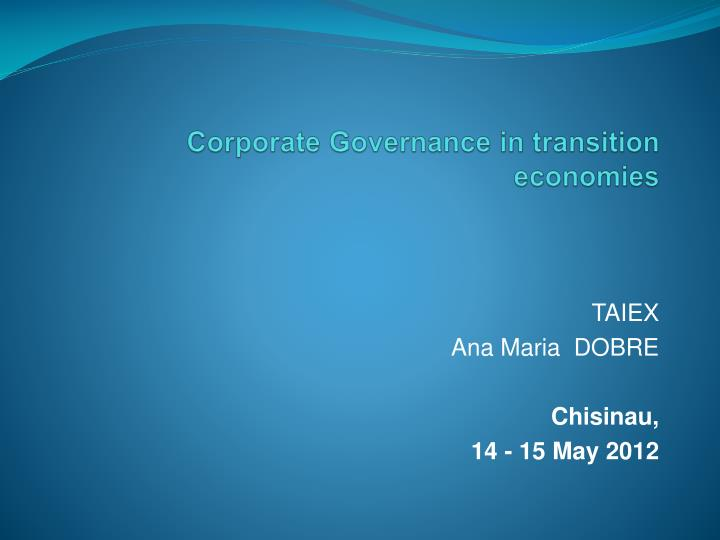 corporate governance in transition economies n.